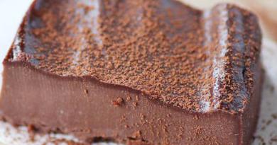 Enkel ostekake med sjokolade (uten ost)