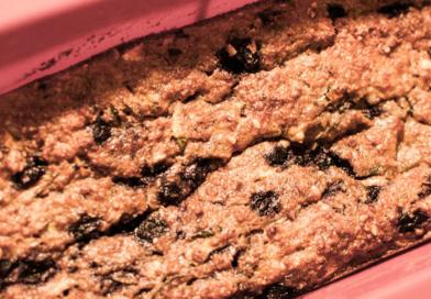 Kake med blåbær og squash